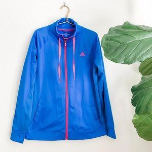 Women's Adidas Blue Zip Up Athletic Jacket
